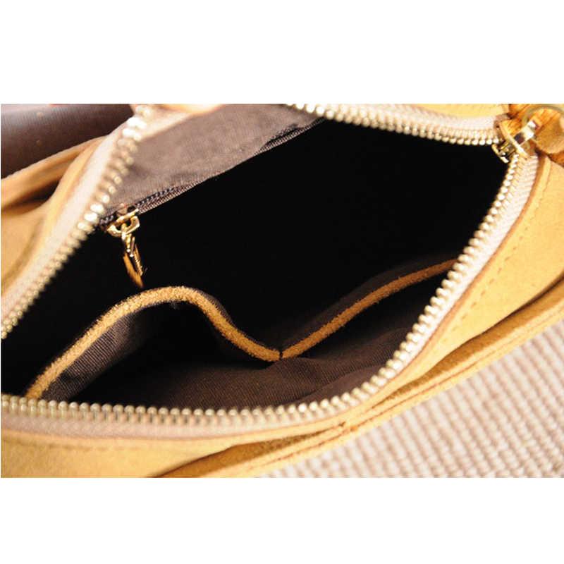 100% натуральная кожа Ретро мода винтажное седло сумка сумки с бахромой женские сумки маленькие плечевые сумки через плечо сумка