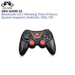 GEN GAME S3 Controller Wireless Bluetooth 3.0 S3 Game Gamepad Joystick for PC Android Smartphone PK T3 S5 Controller