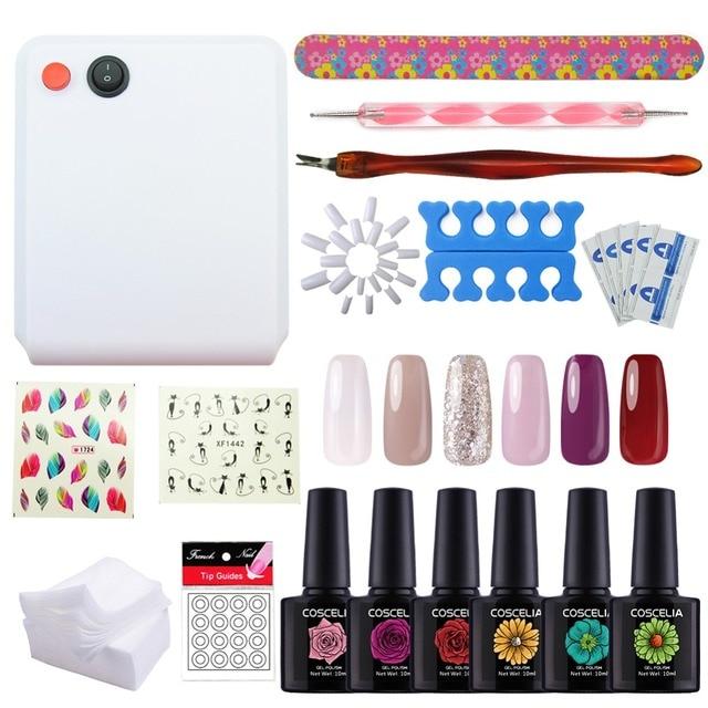 Nail Tools Kit UV Lamp Beigner Practice Nail Art Tools DIY Nail Design UV  Nail Manicure - Nail Tools Kit UV Lamp Beigner Practice Nail Art Tools DIY Nail