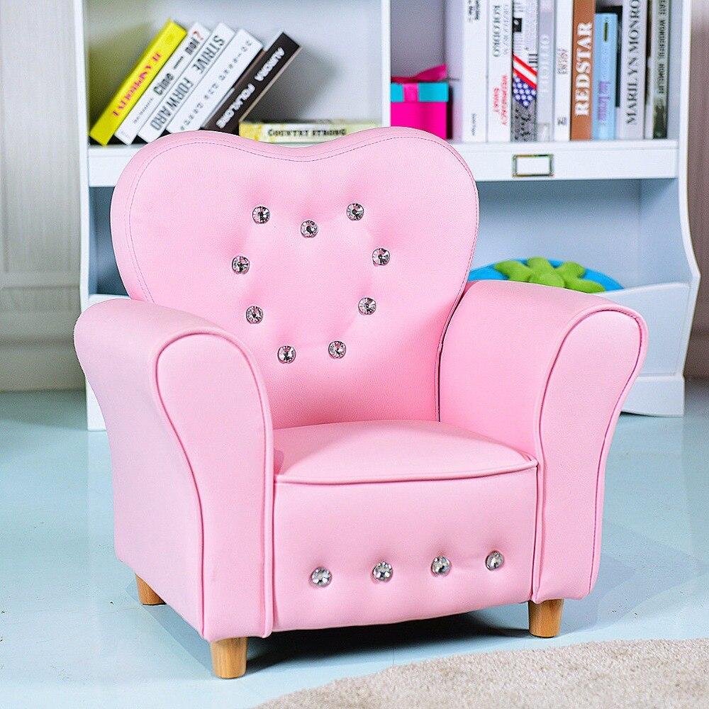 Giantex rose enfants adolescent canapé accoudoir chaise canapé enfants bambin cadeau d'anniversaire filles moderne meubles pour enfants HW58808