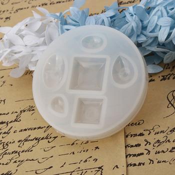 Forma silikonowa do żywicy do tworzenia biżuterii okrągły biały geometryczny 8 2 cm (3 2 8 #8222 ) Dia 1 sztuka tanie i dobre opinie B0113336