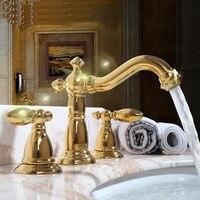 Золото медь ванная комната счетчик бассейна смеситель для раковины тип три антикварные ведущих подразделений