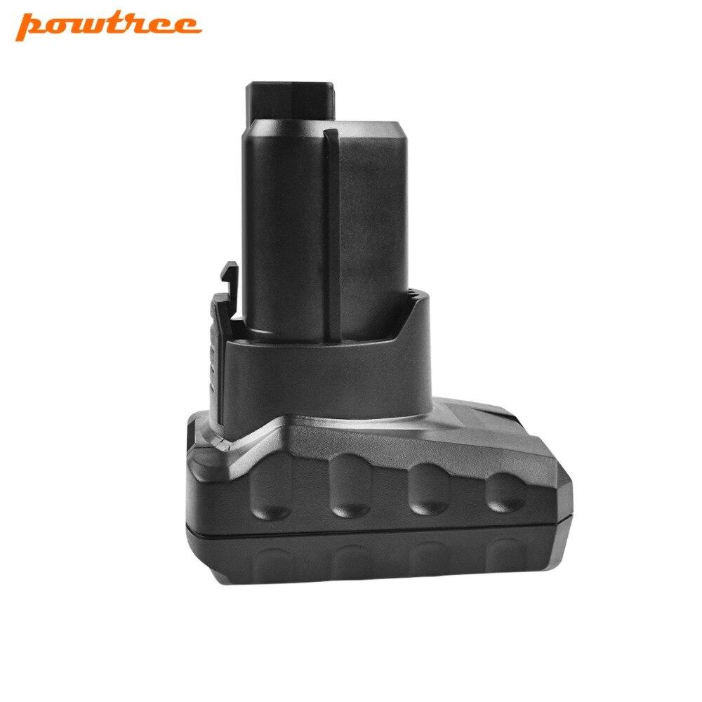 Powtree For AEG Ridgid 12V 6000mAh Power Tools Battery Replacement L1215 L1215P L1215R R86048 BLL12C BS12C BS12C2 BSS12C BWS12