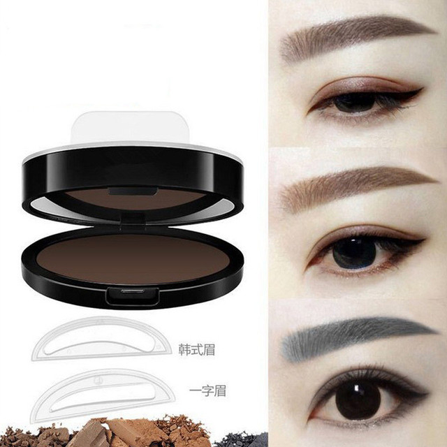 Natural Arched Eyebrow Stamp Quick Makeup Brow Stamps Powder Pallette 9 Options Eyebrow Powder Seal Best Selling Dropshipping 5