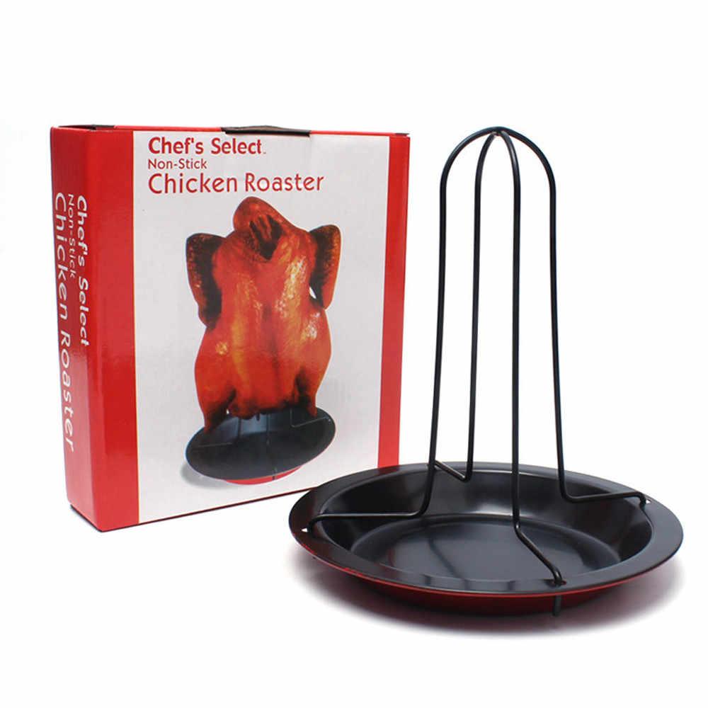 Новые кухонные инструменты для барбекю на открытом воздухе куриный держатель утка стойка для гриля Обжарка для барбекю ребра антипригарная углеродистая сталь