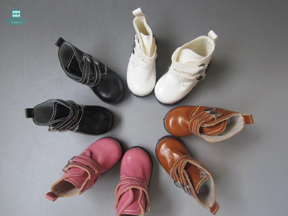 한 쌍의 7.2cm 장난감 인형 신발 높은 상위 부츠 1/4 bjd - 부드러운 장난감