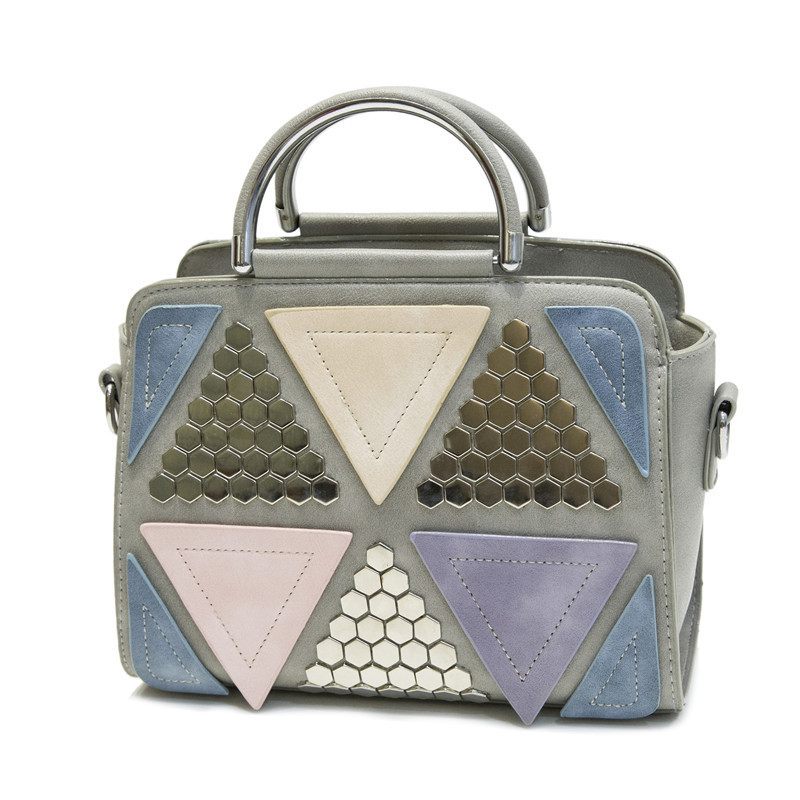 luxury plaid bling geometric patchwork tote bags for women sac a main shoulder bag vintage