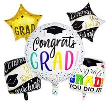 5pcs/lot Congrats Grad Balloons Graduation 2019 Foil Gift Globos Back To School Decorations Birthday Party