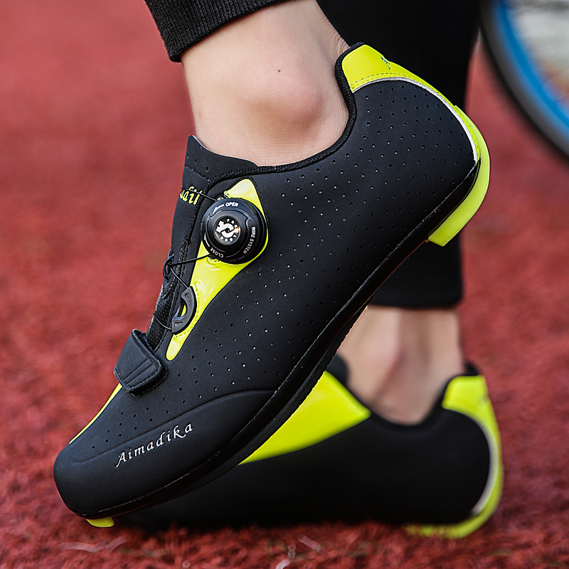 New Cycling Shoes Men Outdoor Road Mountain Bike Bicycle Shoes Athletic Sport Trainers Shoes Light Sneakers