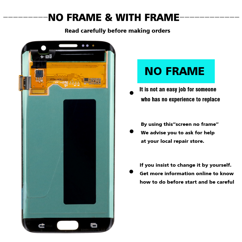 HTB1oS2YaO 1gK0jSZFqq6ApaXXa9 ORIGINAL 5.5'' SUPER AMOLED display with frame for SAMSUNG Galaxy s7 edge G935 G935F Touch Screen Digitizer Display+Service Pack