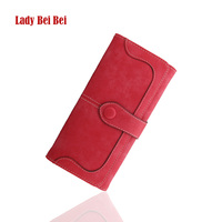 Lady Bei Bei New Arrival Fashion Retro Stitching Wallet Women Long Purse Clutch Women Casual Hasp