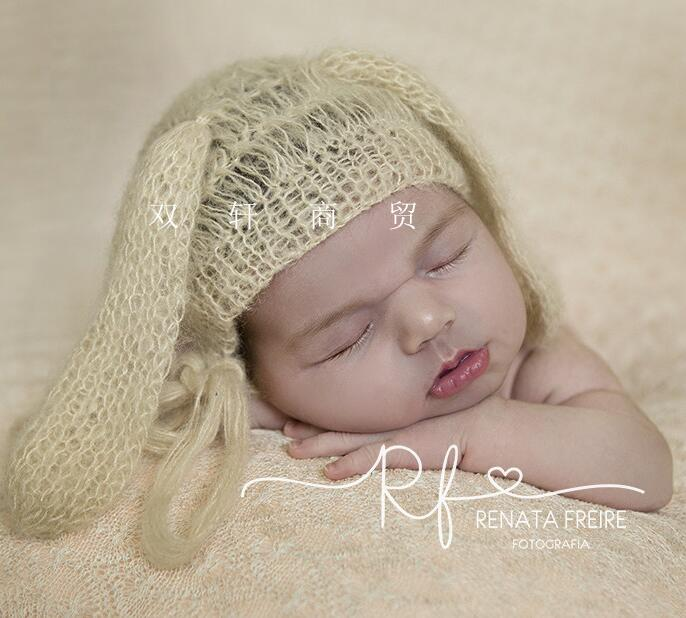 Newborn Photography Accessories Hat Mohair, Soft Hat, Newborn Photography Background Dog Ear Soft Hat An Enriches And Nutrient For The Liver And Kidney