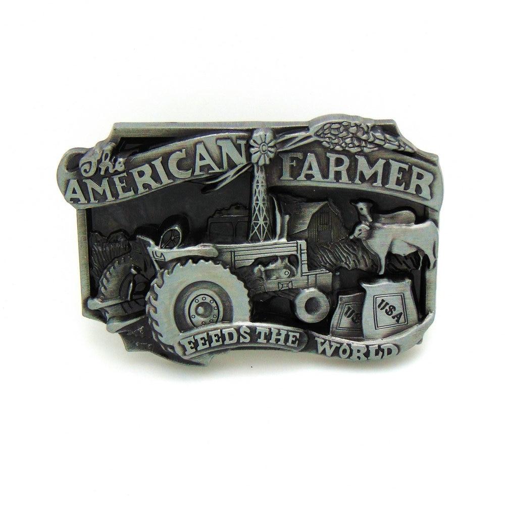 2019 New Western Denim Belt Buckles Farm Tool Personality 3D Zinc Alloy Belt Buckles