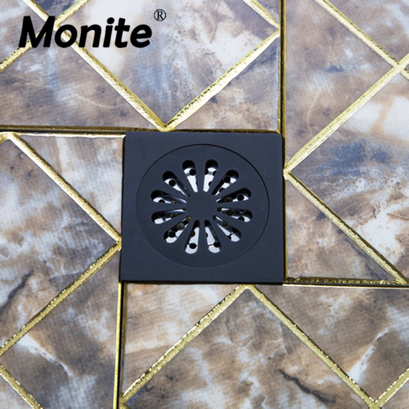 Bathroom Accessory Floor Drain Bathroom Oil Rubbed Black Bronze Flower 5382 Carved Drain Shower Waste Drainer Art Floor Drain free shipping high quality antique brass carved flower art bathroom accessory floor drain waste grate100mm 100mm yt 2110