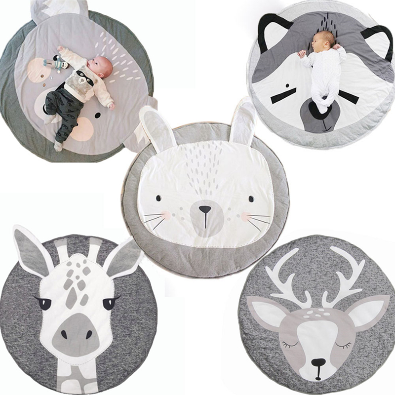 90cm Baby Gyms Playmats Kids Animal Series Cushion Newborn Infant Soft Cotton Baby Play Crawling Pad Creeping Climbing Carpet