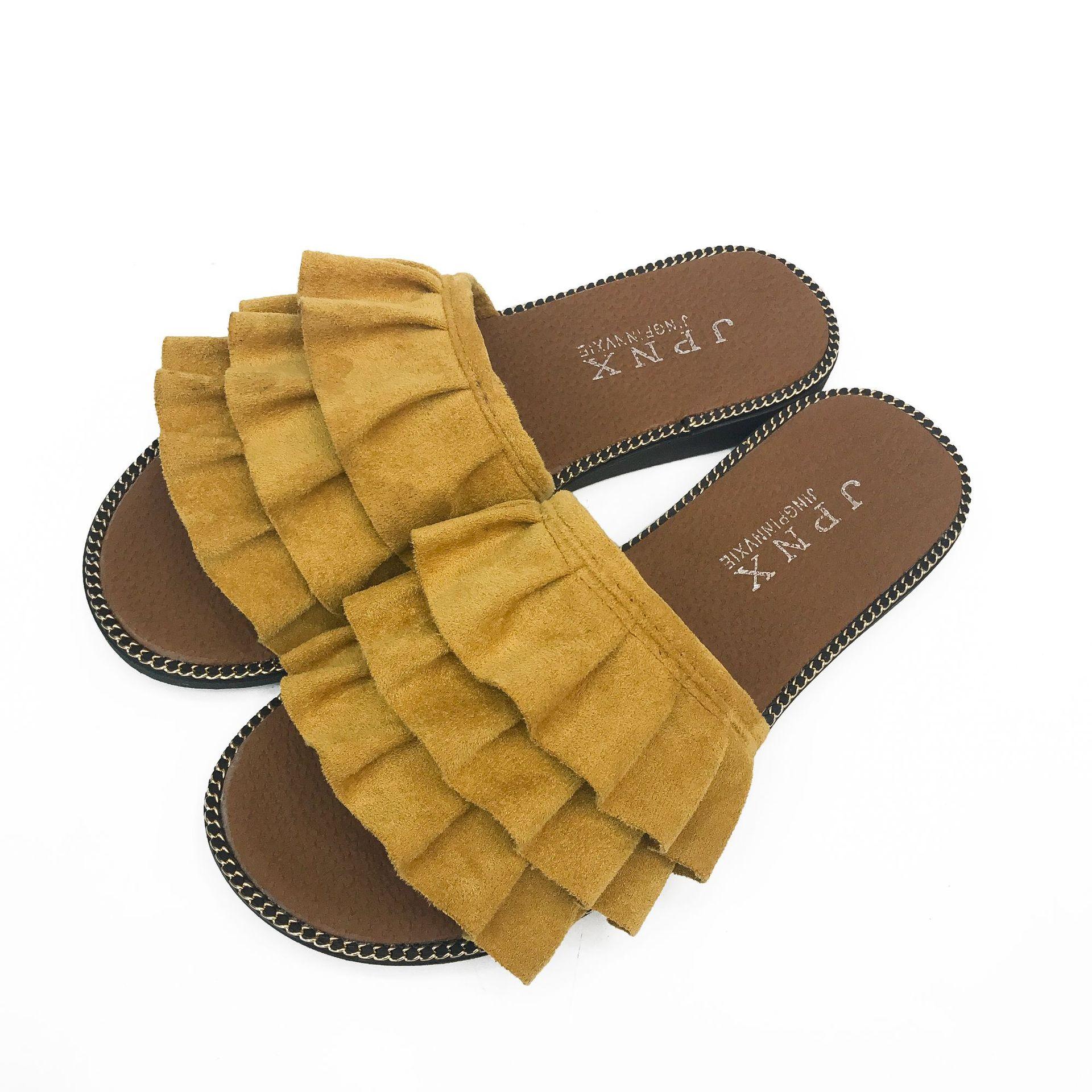 Прямая доставка Blings слайды Для женщин дизайнер Creepers сандалии открытый носок уютный Для женщин тапочки с мячом вьетнамки лук слипоны