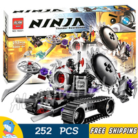 252pcs Ninja Destructoid Rebooted Nindroid Swords Mech Arms 10221 Model Building Block Assemble Toy Brick Compatible With lego