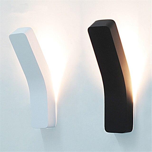 Moderne LED Wandleuchte Beleuchtung Schlafzimmer Nacht Badezimmer  Wandleuchten Applique Leuchte Weiß Schwarz Wand Montiert Leuchten
