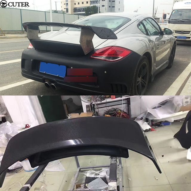 987 Carbon Fiber Car Body Kit Rear Trunk Spoiler Lip Wing For