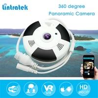 Lintratek 2MP Câmera Panorâmica IP Sem Fio Wi Fi Câmera Olho de peixe de 360 Graus Mini CCTV Home Security HD 1080 P VR Camara IPCAM #50 wireless ip camera ip camera wireless ip -
