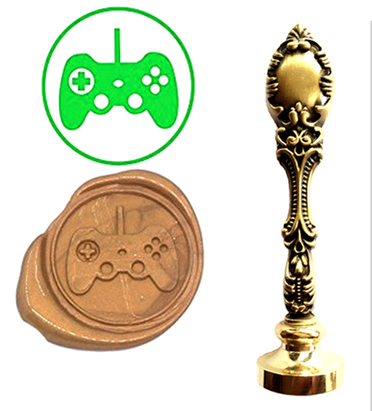 Video Game Console Button Vintage Custom Picture Logo Luxury Wax Seal Sealing Stamp Brass Peacock Metal Handle Gift Set nintendo gba video game cartridge console card metroid zero mission eng fra deu esp ita language version