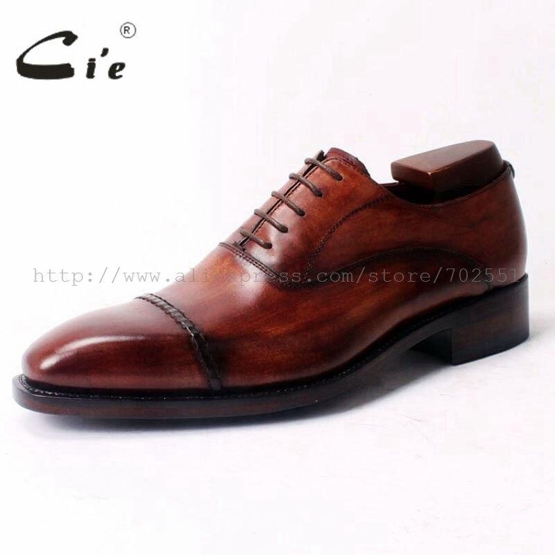 Cie Platz Cap Toe Lace Up Oxfords Bespoke Lederschuh Handgemachten Männer Lederschuh 100% Echte Kalbsleder Rahmengenäht OX321-in Formelle Schuhe aus Schuhe bei  Gruppe 2
