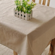 Writing desk Brown cotton tablecloth beige dining natural Solid color Garden