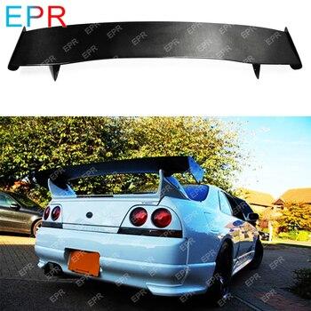 日産スカイライン R33 炭素繊維 Gt スポイラーボードサイドステップバー R33 Gtr ハチ R Gt スポイラー (のみフィット GTR リアスポイラーにベース)