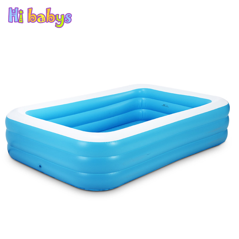 Large baby inflatable pool swimming pool children for Best rated inflatable swimming pool