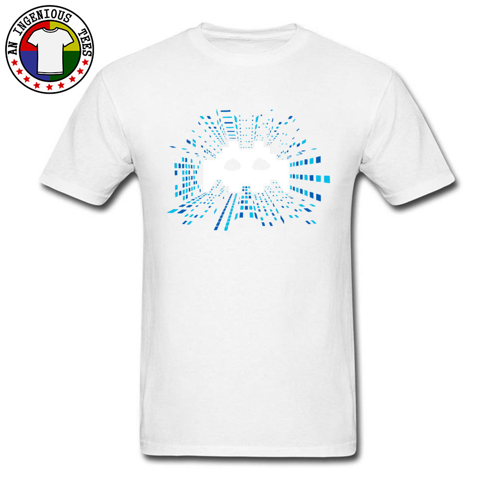 Techno-Android-Music April FOOL DAY 100% Cotton Round Neck Tops Shirts Short Sleeve Comics Tee Shirts High Quality Crazy Tshirts Techno-Android-Music white