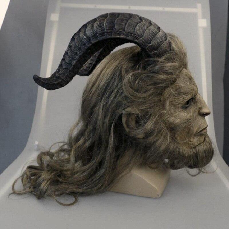 2017 Красота и чудовище маска принц маска Ужас зверь маска ручной работы Новый Косплэй