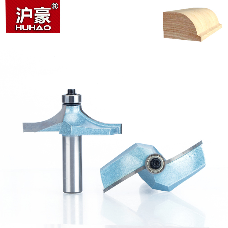 HUHAO 1pc 1/2 Shank Router Bits For Wood Tungsten Carbide Cutter Bit Industrial Grade Woodworking Tools CNC Trimming Tool huhao 1pcs 1 2 1 4 shank classical router bits for wood tungsten carbide woodworking endmill tools classical mounlding bit