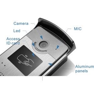 "Image 3 - 7 ""וידאו דלת טלפון ערכת עם מזהה Keyfobs + מנעול חשמלי + ספק כוח + דלת יציאה עבור וילה וידאו פעמון וידאו אינטרקום מערכת"