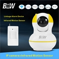 BW Security Surveillance Camera WiFi System Onvif IP WiFi + Infrared Motion Sensor Phone Remote Control Wireless Camera BW12Y