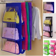 Hanging Pockets For 6 Organizer Handbag Bag Clear Display Purse Closet  Storage