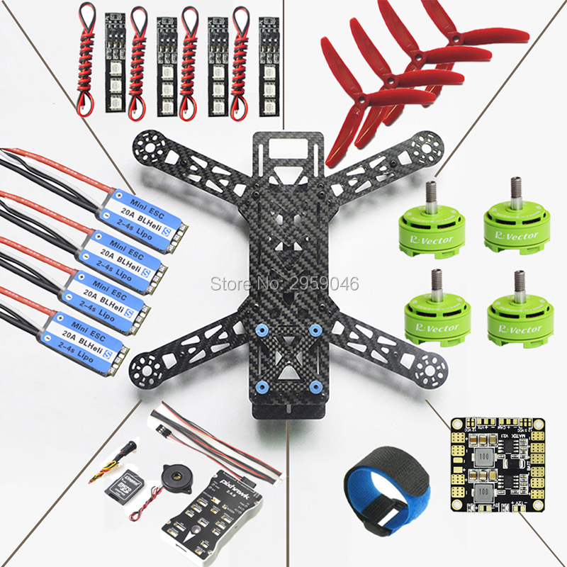 QAV280 Quadcopter Frame Kit Pixhawk PX4 Flight Controller BLHeli_S 20A RV2306 KV2650 Brushless Motor DIY fpv drone carbon fiber diy mini drone 220mm quadcopter frame for qav r 220 f3 flight controller lhi dx2205 2300kv motor