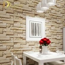 Роскошный камень, кирпичная стена 10 м Нетканые обоев Papel де Parede 3D Гостиная Фон Настенный декор Книги по искусству стены Бумага R306