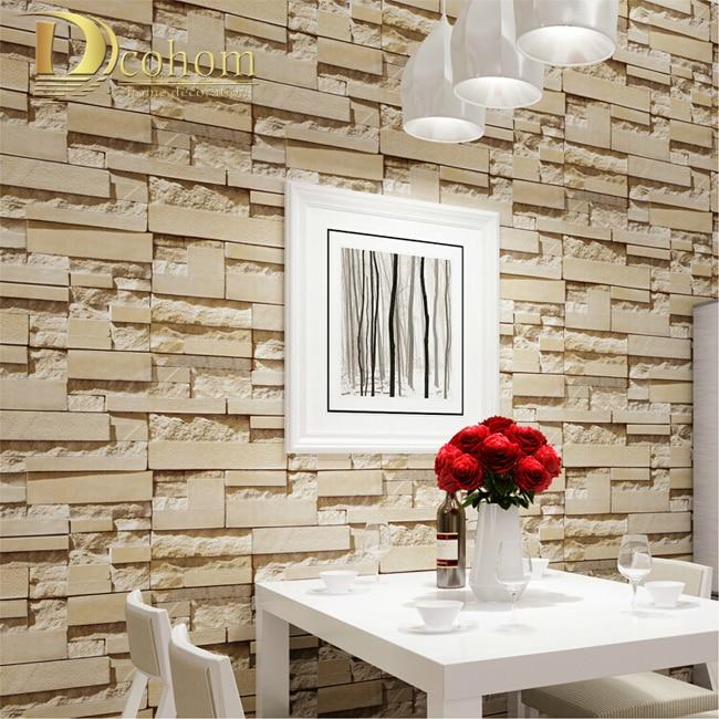 pared de ladrillo de piedra de lujo m vinilo wallpaper rollo papel de papel de