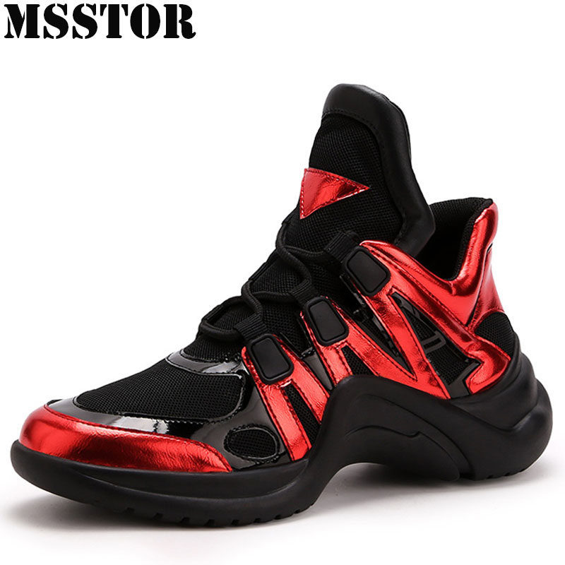 MSSTOR Summer Breathable Running Shoes For Women Height Increasing Womens Sport Shoes Woman Brand Outdoor Athletic Sneakers xiang guan breathable leather athletic sneakers man woman trainer sport shoe height increasing running shoes for women 3377