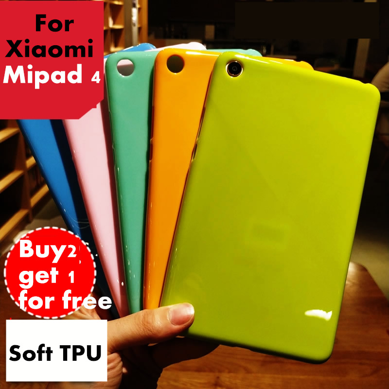 Mipad 4 Mi pad 4 Colorful Pudding Case For Xiaomi mipad4 8 Tablet case Soft Silicone TPU Back Cover Case Protective skin shell mooncase s line soft flexible silicone gel tpu skin shell back чехол для htc one m9 purple