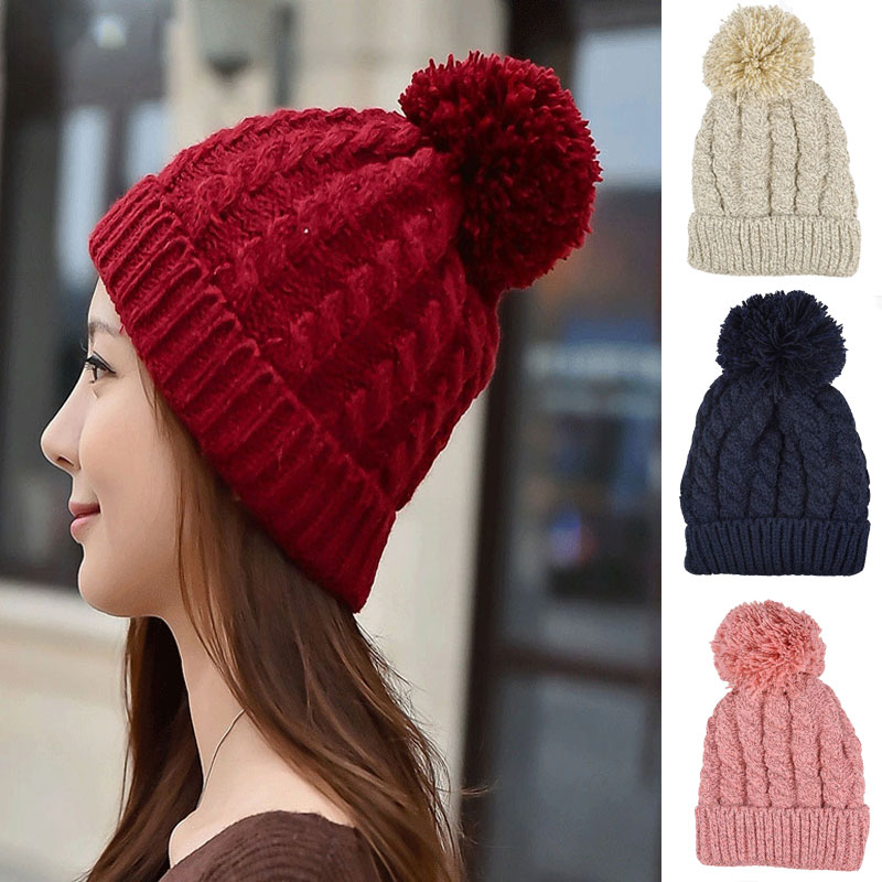 Winter hat women Gorros hombre feminino Solid color knitted warm beanie hat wool caps hats for man hip hop Skullies & Beanies 2016 limited gorro gorros brand new women s cotton hip hop ring warm beanie cap winter autumn knitted hats beanies free shipping