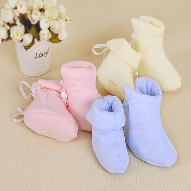2016 New 3Pairs/Lot Sweet Baby Crib Shoes Infant Sleep shoe autumn winter cotton newborn toddler Warm for kid sleeping bed shoes