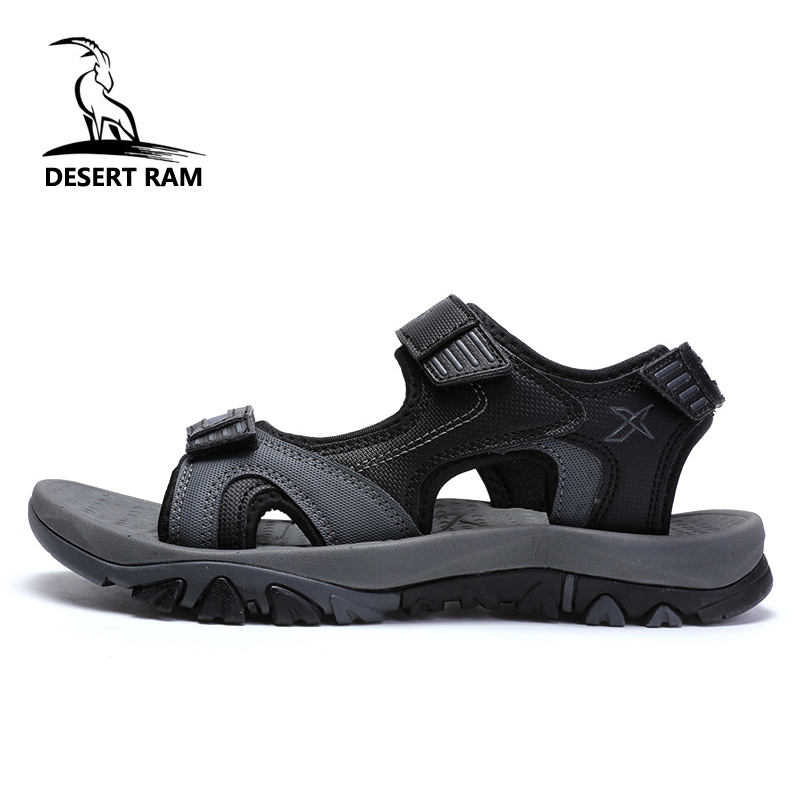 DESERT RAM Brand Big Size Band Sandals Shoes Men Casual 2018 Trending Man High Summer Breathable Footwear Beach Water Sandalias