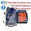 Um ++ TCD CDP Pro Ferramenta de Diagnóstico Do Carro Do Bluetooth Novo VCI TCS CDP de Diagnóstico OBD2 Scanner 2014 R2 R3 Keygen Ativar Livre Carro caminhão