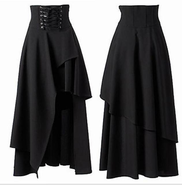 ae6d8b50ac Sexy Kobiety Steampunk Warstwowa Spódnica sukienka spódnica Midi Spódnice  Średniowieczny Gothic Rocznika Kostium Gorset Spódnica TUTU