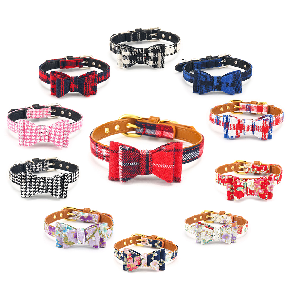 Pet Products Cat Collar With Bell Pet Dog Collar For Cats Adjustable Puppy Collar Chihuahua Dog Collars For Small Dogs Cat Leash