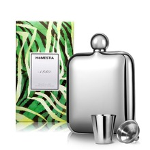 High-end Polished Stainless Steel 4oz Hip Flask