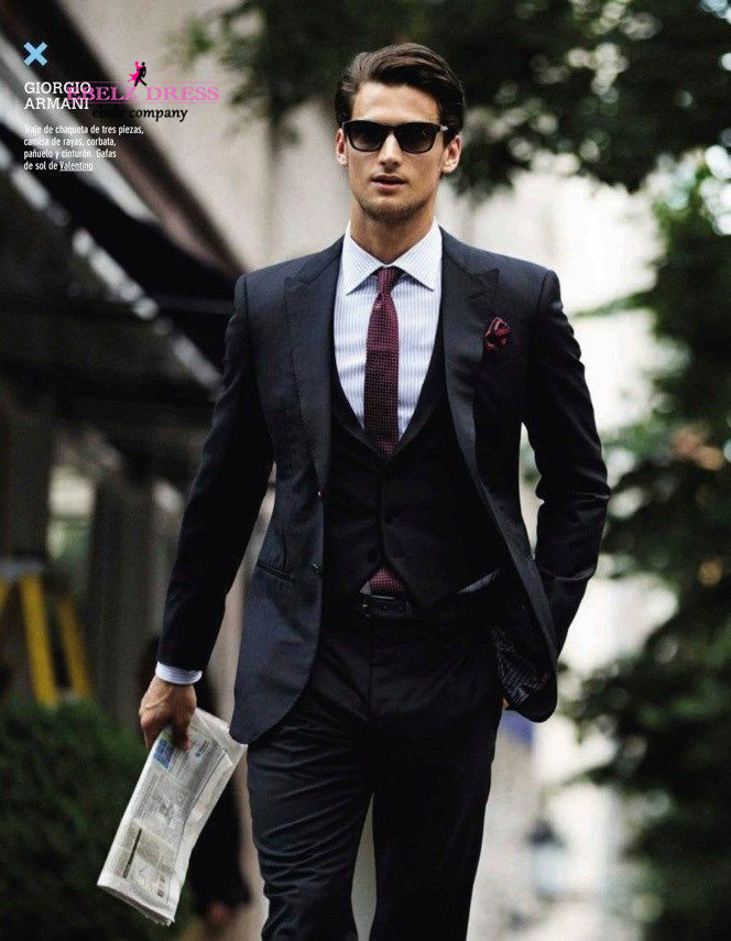 2015 New Arrival Men Slim Fit Suits Man Business Cheap Black Suits ...