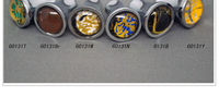 12Pcs Millefiori Color Vaidurya Glass Cabinet Drawer Door Knobs and Wardrobe Pull(Diameter:17mm)