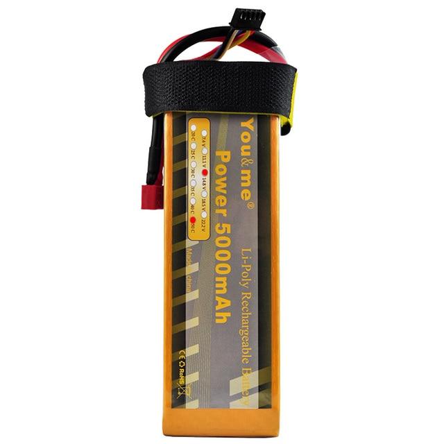 You & me RC Li-Bateria Li-poly 14.8 V 5000 mAh 50C Max 100C 4S Recarregável AKKU Batteria Baterias